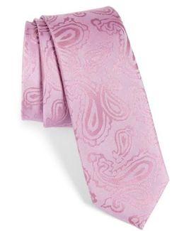 Paisley Silk Skinny Tie