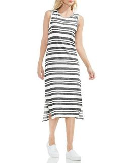 Jacquard Stripe Tank Dress