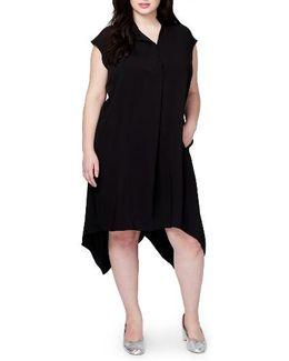 Harper Handkerchief Hem Midi Dress