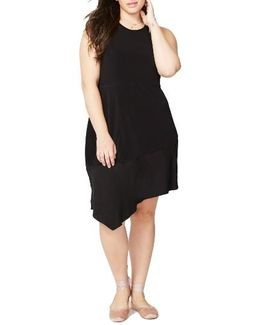 Asymmetrical Flounce Dress