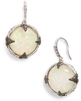 New World Opal & Diamond Drop Earrings