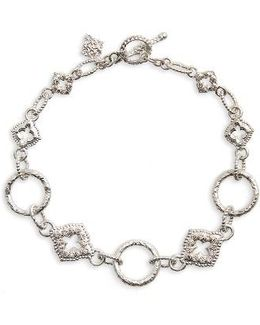New World Diamond Circle Link Bracelet