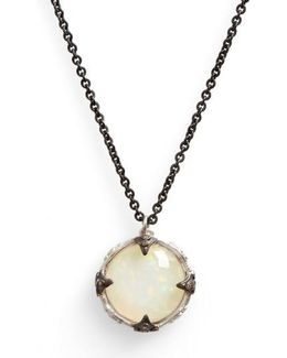 New World Crivelli Opal Pendant Necklace