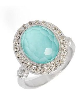 New World Diamond & Turquoise Ring