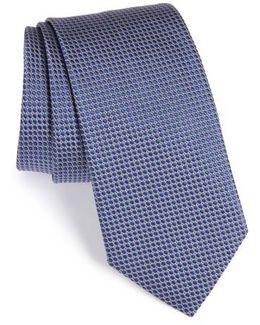 Circle Geometric Silk Tie