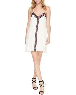 Maya Embroidered Cotton Slipdress