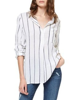 Miles Stripe Roll Sleeve Tunic
