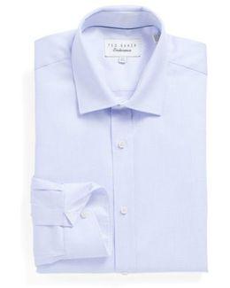 Brasser Trim Fit Solid Dress Shirt
