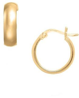 Small Curved Hoop Earrings