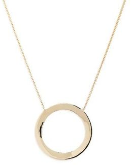 Geo Circle Pendant Necklace (nordstrom Exclusive)
