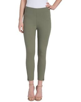 Soho Canvas High Rise Crop Leggings