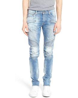 Blinder Skinny Fit Moto Jeans