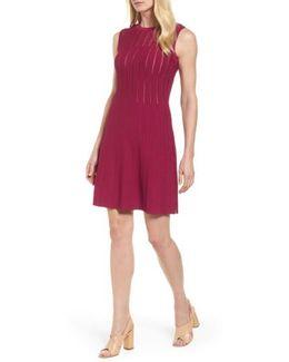 Knit Fit & Flare Dress