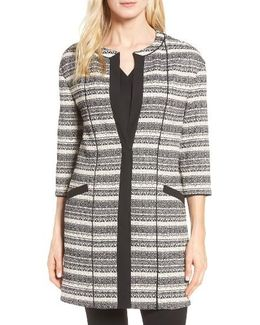 Long Stripe Tweed Jacket