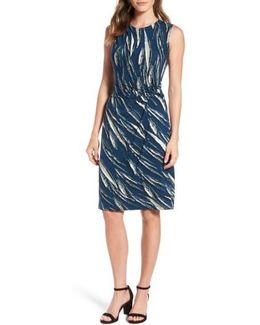 Tiger Lily Twist Front Sheath Dress