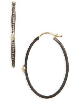 Old World Oval Hoop Earrings