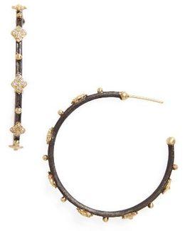 Old World Diamond Hoop Earrings