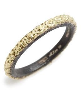 Old World Textured Stack Ring