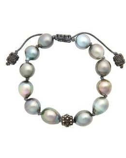 Old World Pearl & Diamond Bracelet