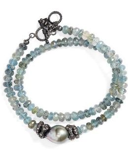 Old World Semiprecious Stone Double Wrap Bracelet