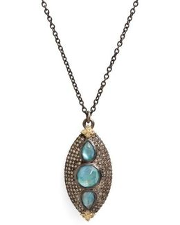 Old World Opal & Diamond Pendant Necklace