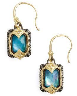 Old World Opal & Diamond Drop Earrings