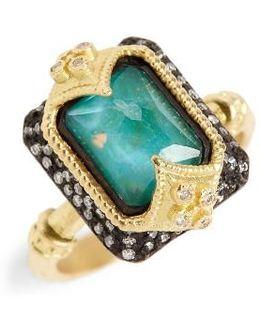 Old World Opal & Diamond Ring