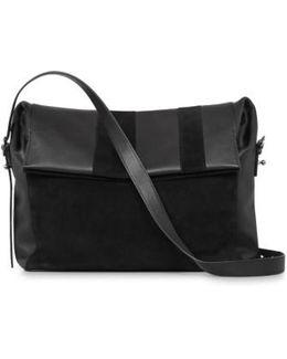 Casey Calfskin Leather & Suede Shoulder Bag