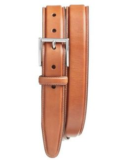 Pressed Edge Leather Belt