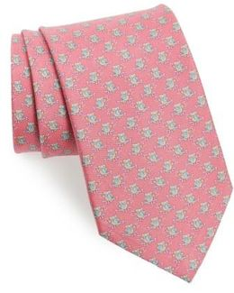 Owl Print Silk Tie