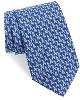 Puffin & Giraffe Silk Tie
