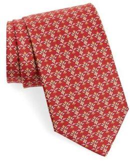 Dalia Geometric Silk Tie