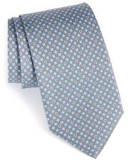 Salvia Floral Print Silk Tie