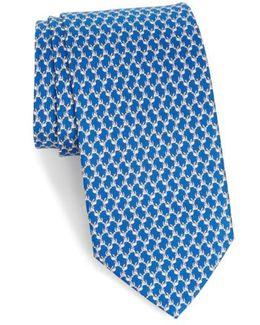 Riccardo Dog Print Silk Tie