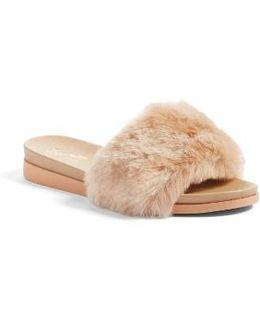 Beyond Reason Faux Fur Slide Sandal