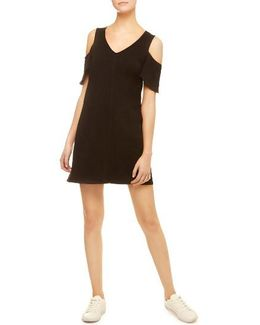 Jolene Cotton Jersey Cold Shoulder Dress