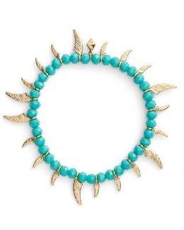 Tiki Beaded Spike Bracelet