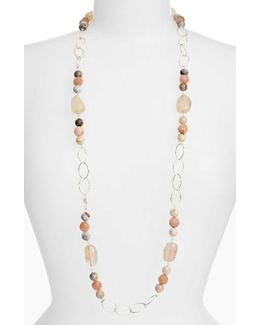 Long Stone Link Necklace