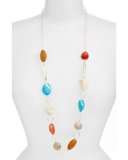 Mixed Stone Chain Necklace