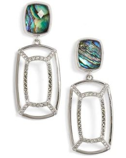 Abalone Double Drop Earrings