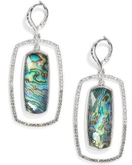 Abalone Orbital Drop Earrings