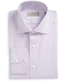 Regular Fit Geometric Dress Shirt