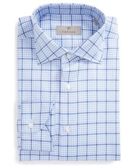 Regular Fit Plaid Dress Shirt