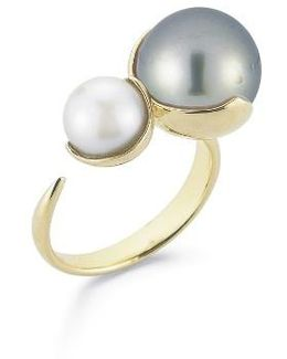Openwork Pearl Ring