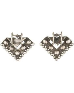 Ecru Stud Earrings