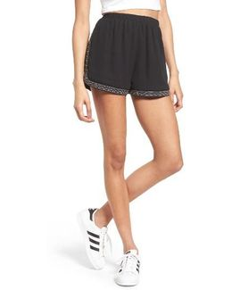 Studded & Embroidered Shorts