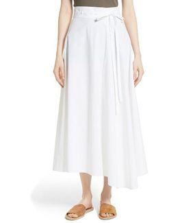 Jaberdina Poplin Midi Skirt