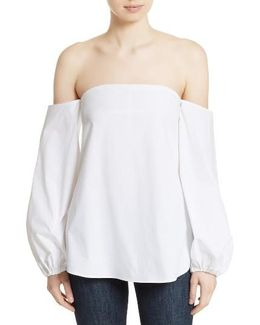 Laureema Poplin Off The Shoulder Top