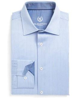Trim Fit Herringbone Dress Shirt