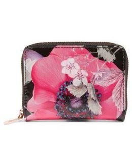 Mini Lilibe Neon Poppy Zip Wallet